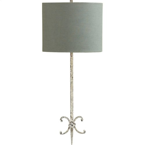 Visual Comfort SK2009BW-BL Suzanne Kasler Roswell 2 Light 11 inch Belgian White Decorative Wall Light in Blue Linen
