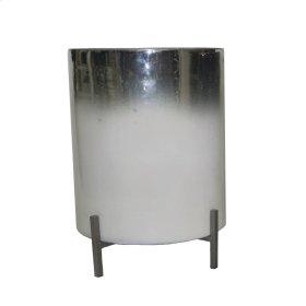 "White/silver Glass Planter 14.5"""