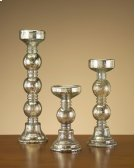 S/3 Mercury Glass Candle Holders Product Image