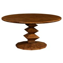 """60"""" Contemporary Round Dining Table"""