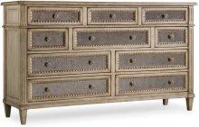 Sanctuary Ten Drawer Dresser-Pearl Essence