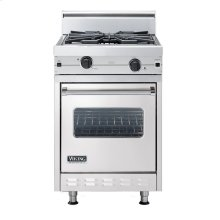 "Metallic Silver 24"" Wok/Cooker Companion Range - VGIC (24"" wide range with wok/cooker, single oven)"