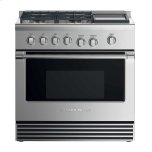 "Fisher & PaykelGas Range, 36"", 4 Burners with Griddle"