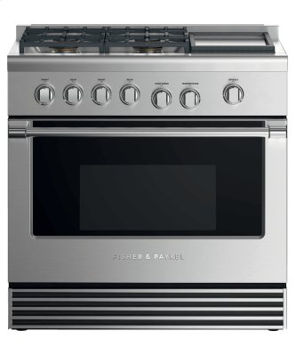 "Gas Range, 36"", 4 Burners with Griddle, LPG"