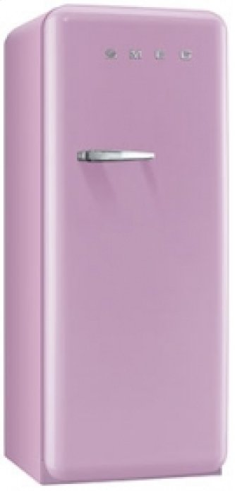 50'S Style Refrigerator with ice compartment, Pink, Right hand hinge
