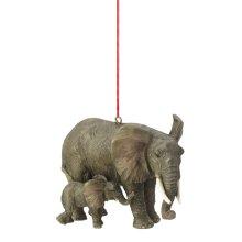 Elephant with Calf Ornament.