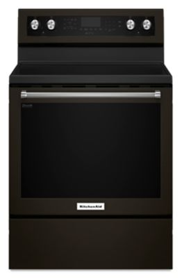 30-Inch 5-Element Electric Convection Range - Black Stainless