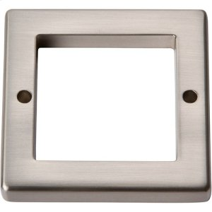 Tableau Square Base 1 13/16 Inch - Brushed Nickel Product Image