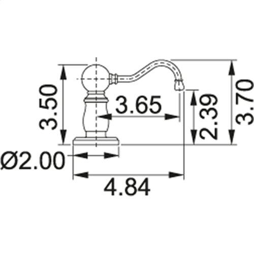 Soap dispenser SD6080 Satin Nickel