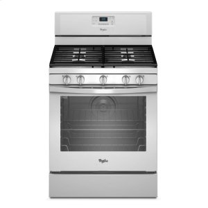 5.8 Cu. Ft. Freestanding Gas Range with Center Burner - WHITE