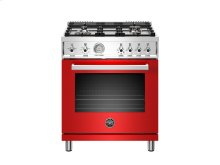 30 inch All Gas Range, 4 Brass Burner Red