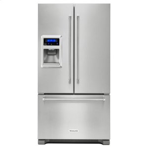 KitchenAidKitchenAid® 20 cu. Ft. 36-Inch Width Counter Depth French Door Refrigerator with Exterior Ice and Water - Stainless Steel