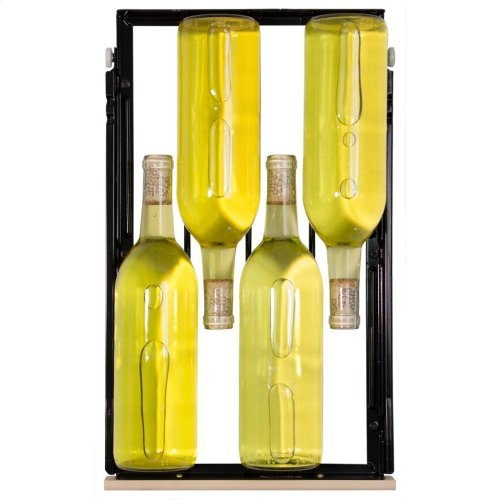 "15"" High Efficiency Single Zone Wine Cellar - Black Frame, Glass Door - Right Hinge, Black Designer Handle"