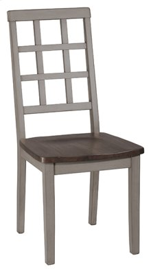 Garden Park Dining Chair - Set of 2 - Gray With Dark Espresso (wirebrush)