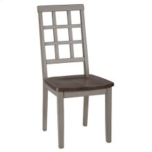 Garden Park Dining Chair - Set of 2 - Gray With Dark Espresso (wirebrush)