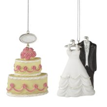 Wedding Attire and Cake Ornament (2 asstd)