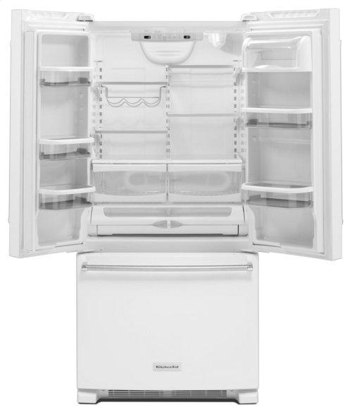 22 Cu. Ft. 33-Inch Width Standard Depth French Door Refrigerator with Interior Dispense - White