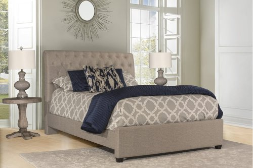 Napelton Cal King Bed - Natural Herringbone