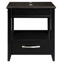 Ambrosia (tm) 24-inch Bathroom Vanity & Black Granite Countertop - Black