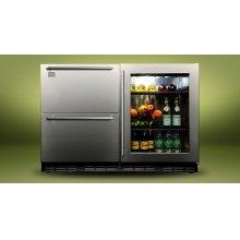 "Kalamazoo 48"" Outdoor Refrigerator (2 Drawers + 1 Glass Door)"