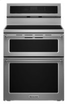 30-Inch 4-Element Induction Double Oven Convection Range - Stainless Steel Product Image