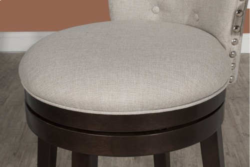 Edenwood Swivel Counter Stool - Chocolate & Cream