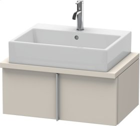 Vero Vanity Unit For Console Compact, Taupe Decor