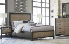 Helix Panel Bed with Storage 5/0 - Queen