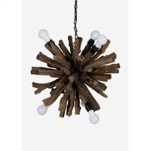(LS) Natural Abstract Branch Chandelier (24x24x24)