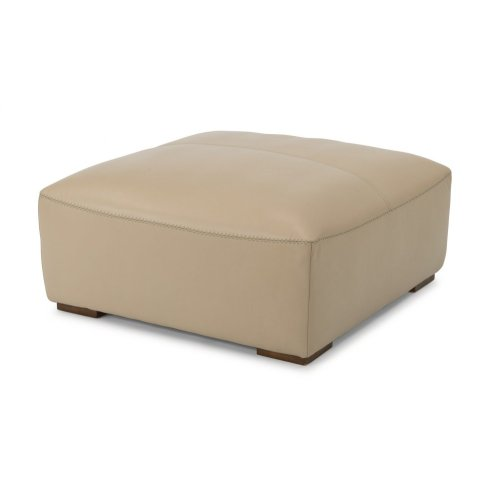 Morgan Leather Square Cocktail Ottoman
