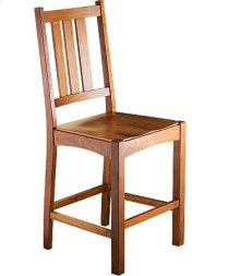 Mission Slat Counter Chair w/ Wood Seat
