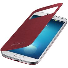 Galaxy S 4 S-View Flip Cover, Red