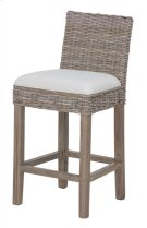 Durham Rattan Counterstool w/ Upholstered Seat and Wood Base (18x20x36) Product Image