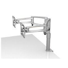 Zoom Desk 102 Dual TV and Monitor Mount, Silver