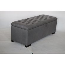 Camille Transitional Grey and Cappuccino Storage Bench