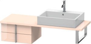 Vero Low Cabinet For Console Compact, Apricot Pearl High Gloss Lacquer