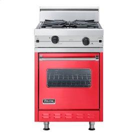 "Racing Red 24"" Wok/Cooker Companion Range - VGIC (24"" wide range with wok/cooker, single oven)"