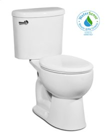 White PALERMO Two-Piece Toilet 1.28gpf, Round-Front