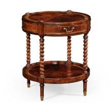 Regency Style Mahogany Round Side Table
