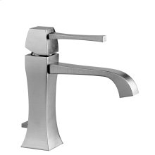 "Single lever washbasin mixer with pop-up assembly Spout projection 5-3/16"" Height 6-1/2"" Includes drain Max flow rate 1"