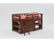 Heartland Ladder Low Loft Bed with options: Chocolate, Twin