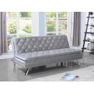 Contemporary Glamorous Silver and Chrome Sofa Bed Product Image