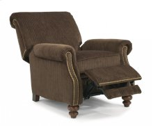 Bay Bridge Fabric High-Leg Recliner with Nailhead Trim