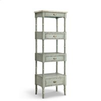 Zornes 3-drawer Etagere In Pale Blue-gray Product Image