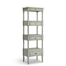 Zornes Cabinet In Pale Blue-gray