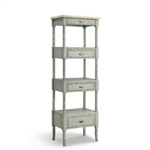 Zornes 3-drawer Etagere In Pale Blue-gray