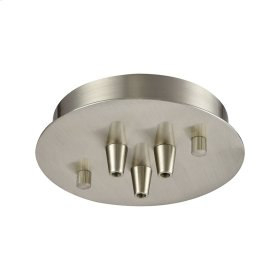 Pendant Options 3 Light Small Round Canopy in Satin Nickel