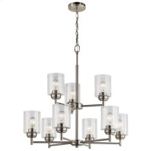 Winslow 9 Light Chandelier Brushed Nickel
