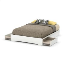 Platform Bed with 2 Drawers - 60''