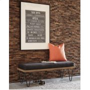 Mid-century Modern Black Bench Product Image